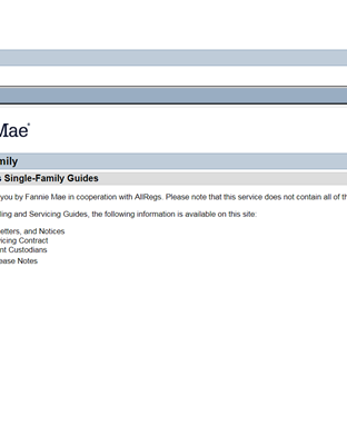 Fannie Mae Guidelines Image
