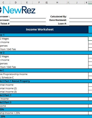 Income Worksheet Image