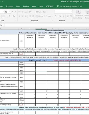 Rental Income Worksheet Up To 10 Properties Image