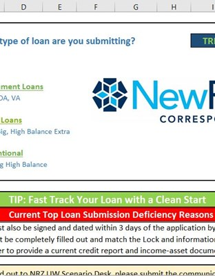 Non-Delegated Loan Submission Form Image