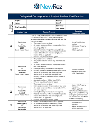 Delegated Correspondent Project Review Certification Image